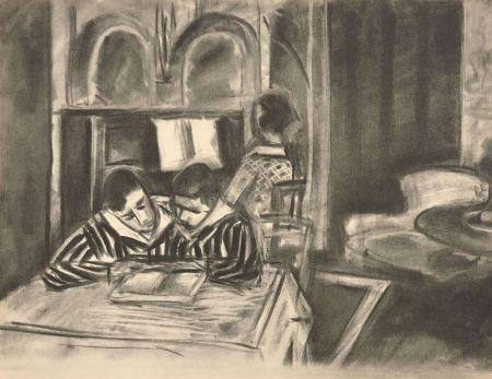 Collographie Matisse - SCENE D'INTERIEUR, 1933