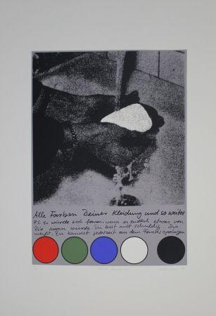 Sérigraphie Rühmann - Scharfe Überlegung