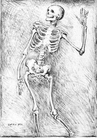 Lithographie Carra - Scheletro danzante