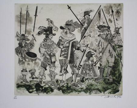 Eau-Forte Et Aquatinte Dittrich - Schlacht