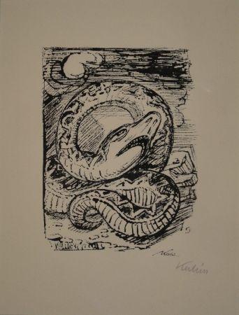 Lithographie Kubin - Schlange