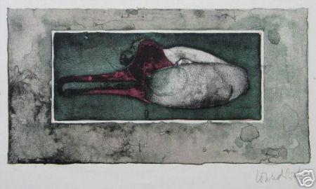 Lithographie Wunderlich - Schwanenkopf