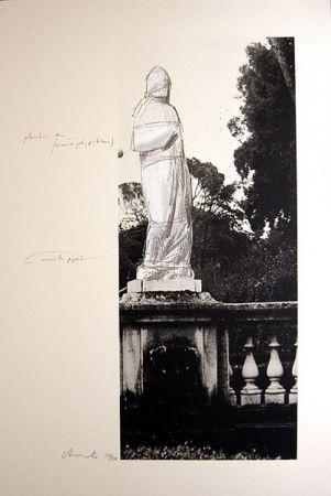 Lithographie Christo - Schweiz Verpackte Venus-Villa Borghese