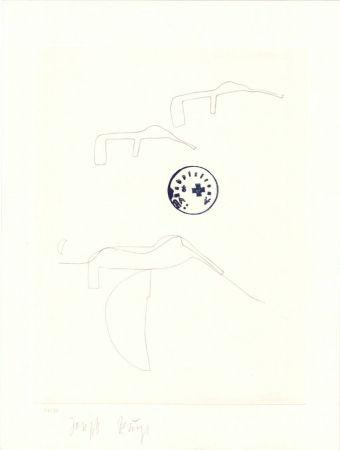 Lithographie Beuys - Schwurhand: Eiszeit  Normalausgabe