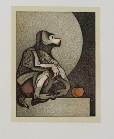 Lithographie Bodini - Scimmietta