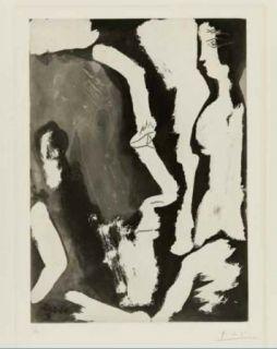 Eau-Forte Et Aquatinte Picasso - Sculpteur travaillant à un buste de femme II