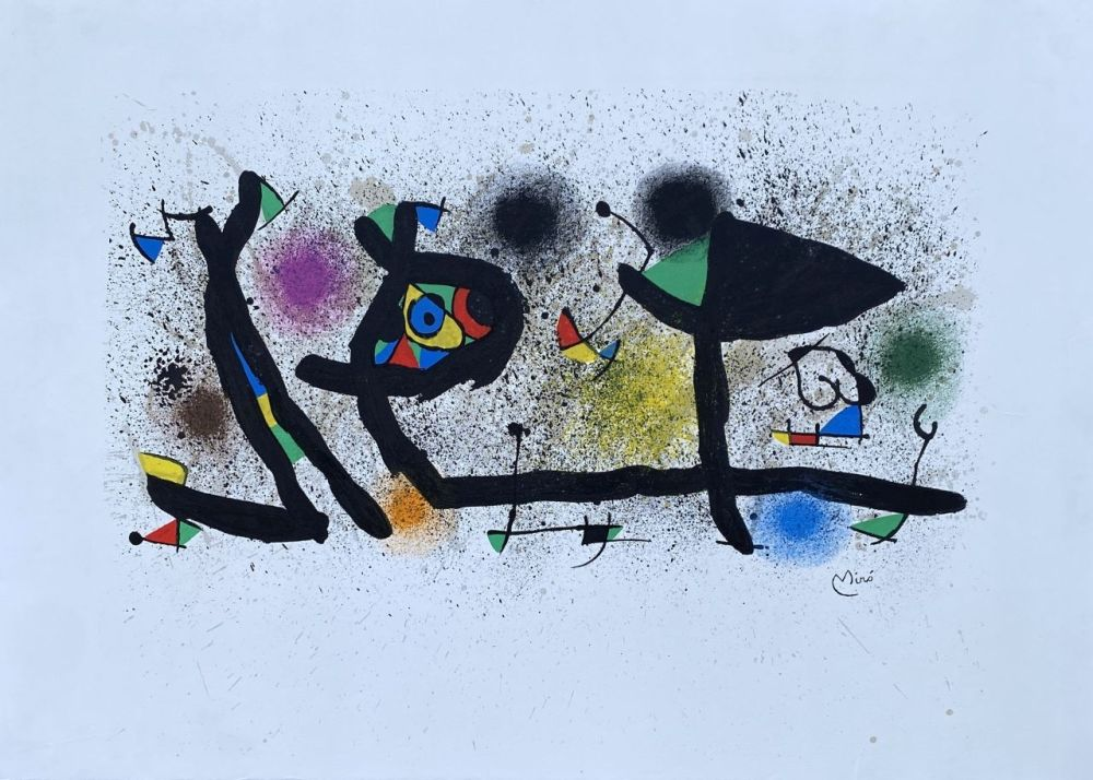 Lithographie Miró - Sculptures