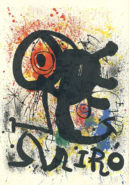 Lithographie Miró - Sculptures et céramiques