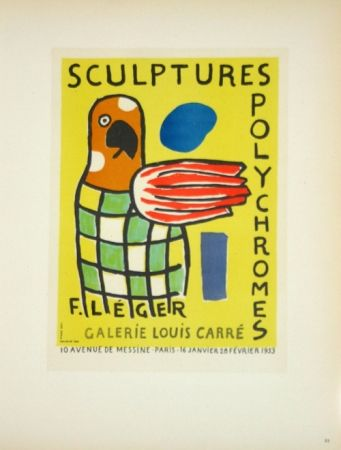 Lithographie Leger - Sculptures Polychromes