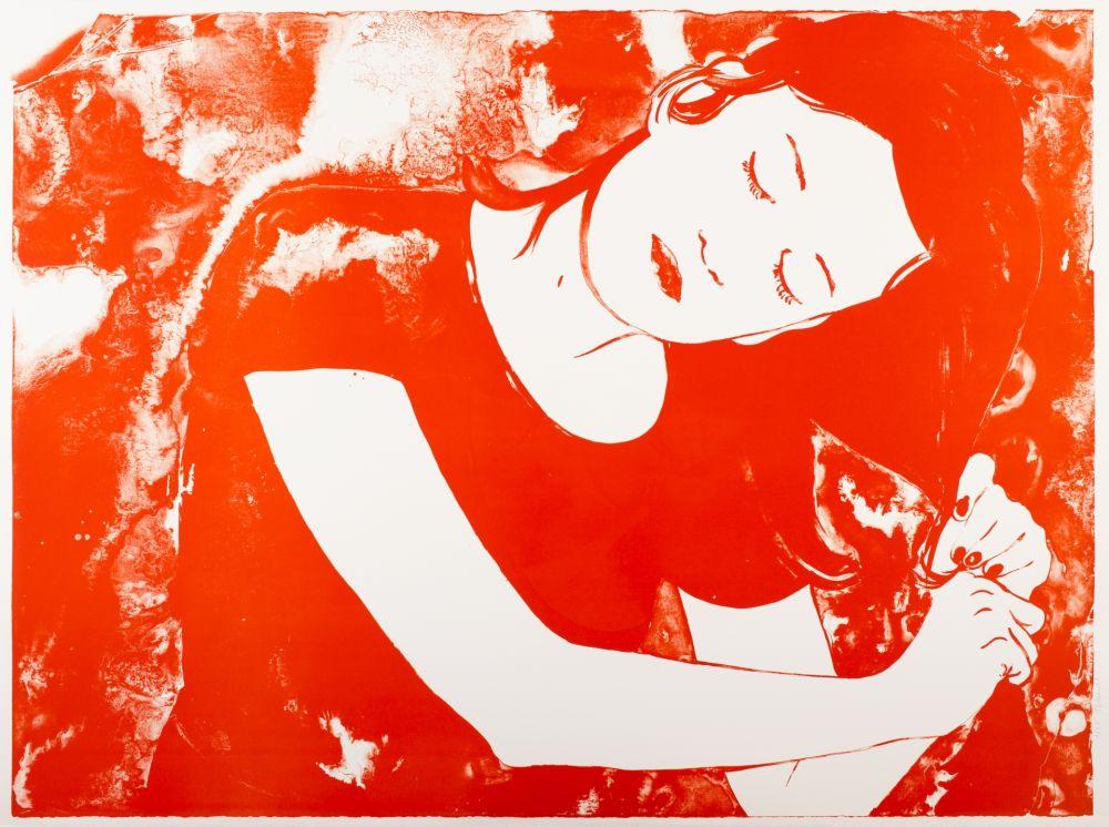 Lithographie Pétrovitch - Se Coiffer