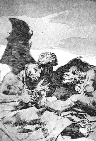 Eau-Forte Et Aquatinte Goya - Se repulen