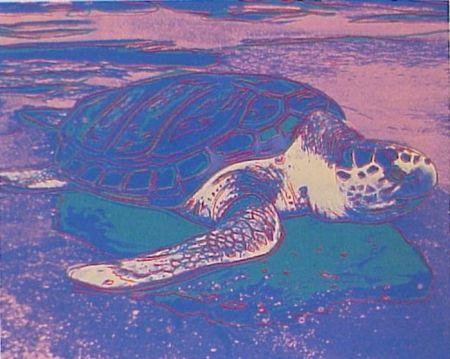 Sérigraphie Warhol - Sea Turtle