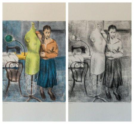 Lithographie Soyer - Seamstress 1 Portfolio