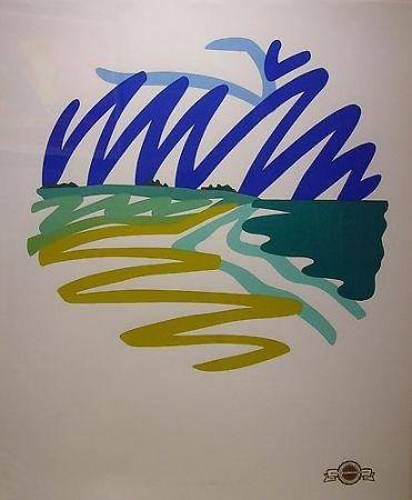 Sérigraphie Wesselmann - Seascape(Round)