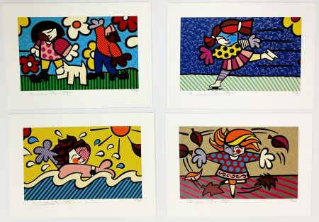 Sérigraphie Britto - SEASONS OF MIRACLES - SUITE OF 4