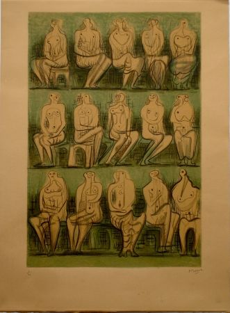 Lithographie Moore - Seated Figures