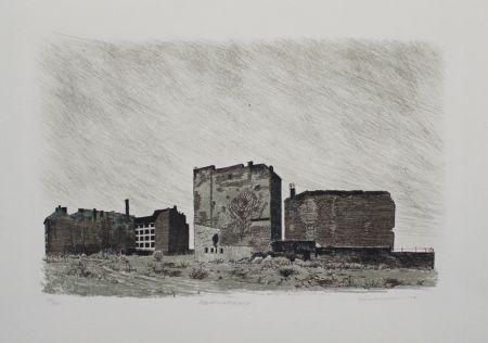 Lithographie Kuschnerus - Sebastianstrasse