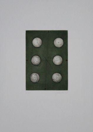 Eau-Forte Et Aquatinte Janak - Sechs Bälle / Six Balls
