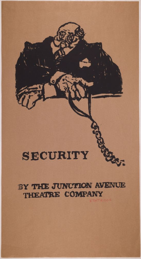 Sérigraphie Kentridge - Security