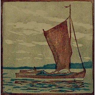 Gravure Sur Bois Mass - Segelboot / Sailboat