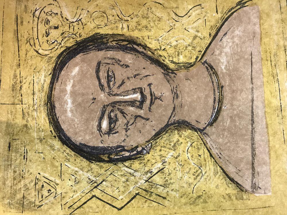 Lithographie Campigli - Selbstbildnis