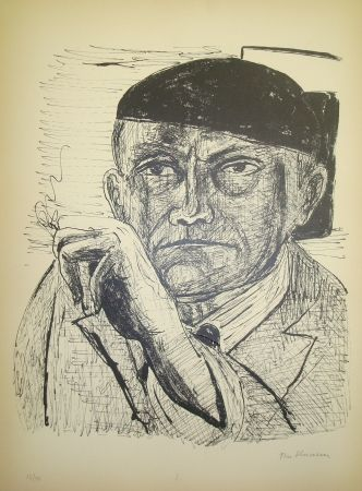 Lithographie Beckmann - Selbstbildnis (from portfolio Day and Dream)