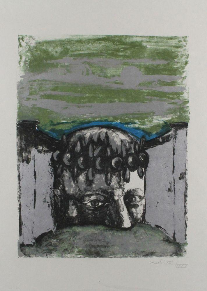 Lithographie Vacchi - Selbstbildnis / Self-Portrait