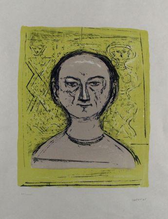 Lithographie Campigli - Selbstbildnis / Self-Portrait