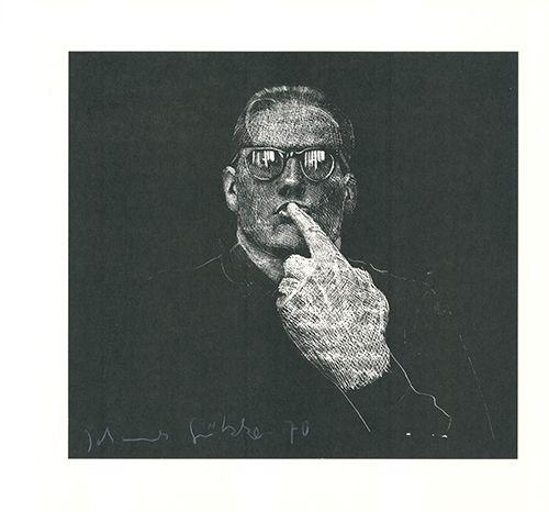 Linogravure Grützke - Selbstportrait