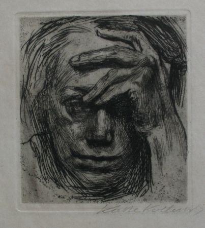 Gravure Kollwitz - Self-portrait