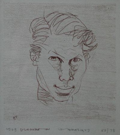 Lithographie Le Brocquy - Self-portrait