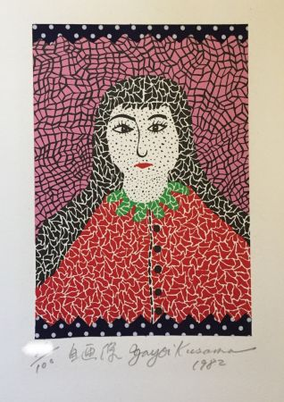 Lithographie Kusama - Self-portrait