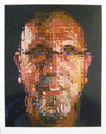 Sérigraphie Close - Self-Portrait Screenprint 2012