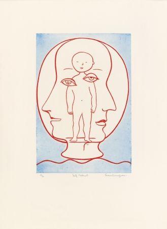 Eau-Forte Et Aquatinte Bourgeois - Self-Portrait (Weitman 12)