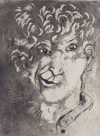 Eau-Forte Et Aquatinte Chagall - Self-Portrait with Grimace