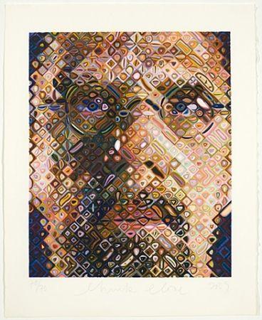 Gravure Sur Bois Close - Self-Portrait Woodcut