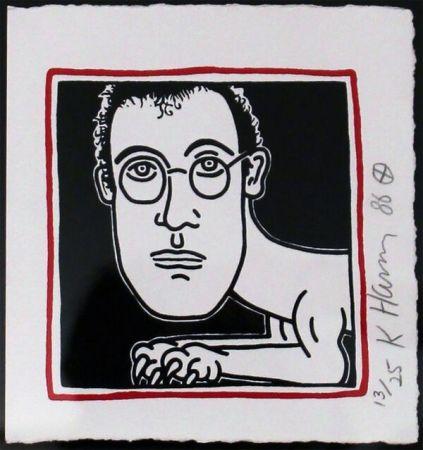 Sérigraphie Haring - Self Portrait