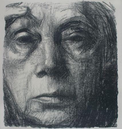 Lithographie Kollwitz - Self Portrait