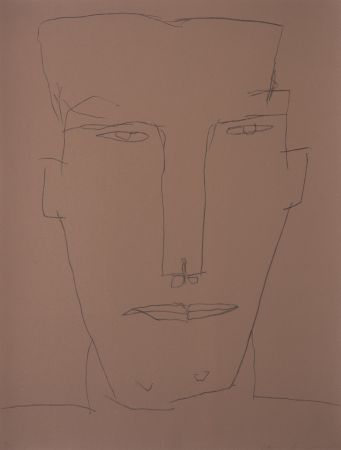 Lithographie Brown - Self Portrait 17
