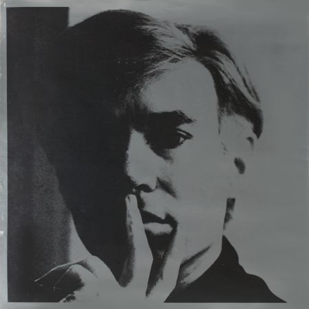 Lithographie Warhol - Self Portrait by Andy Warhol is a lithograph on silver coated paper