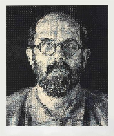 Sérigraphie Close - Self Portrait by Chuck Close