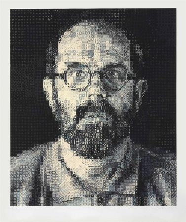 Sérigraphie Close - Self Portrait by Chuck Close