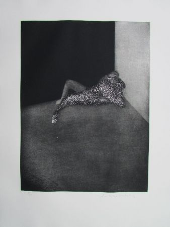 Gravure Scholder - Self Portrait In Barcelona