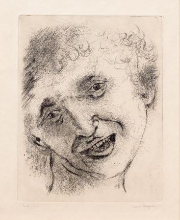 Gravure Chagall - Self Portrait with a Laughing Expression