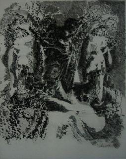 Eau-Forte Et Aquatinte Rouan  - Selon ses faces 1