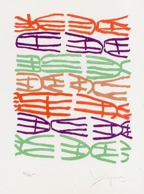 Lithographie Capogrossi - Senza Titolo