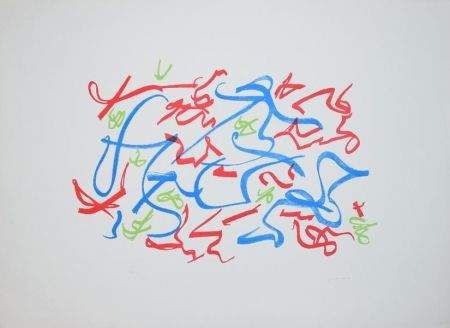 Lithographie Turcato - Senza titolo
