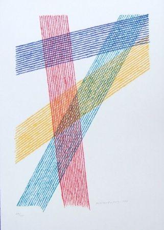 Lithographie Dorazio - Senza titolo (Untitled)