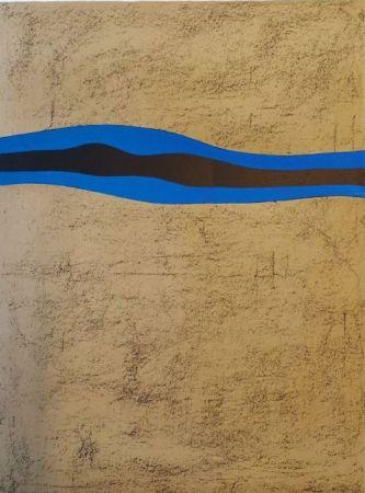Lithographie Santomaso - Separazione nero e blu