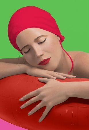 Sérigraphie Feuerman - Serena with red cap